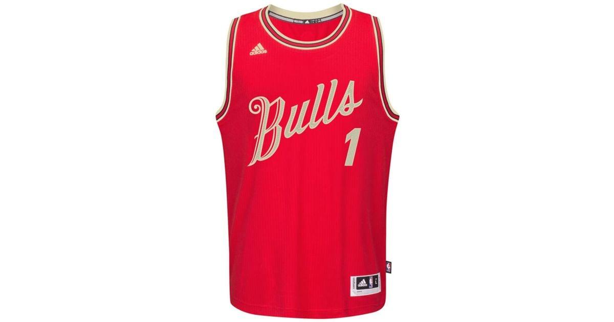 online retailer 81e1d 422a1 Adidas Red Men's Derrick Rose Chicago Bulls Christmas Day Swingman Jersey  for men