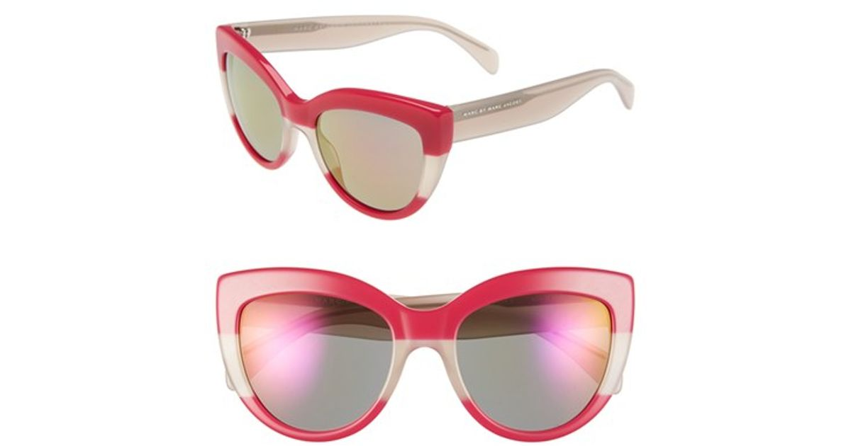 fcabc2138e73 Marc By Marc Jacobs 53mm Cat Eye Sunglasses in Pink - Lyst