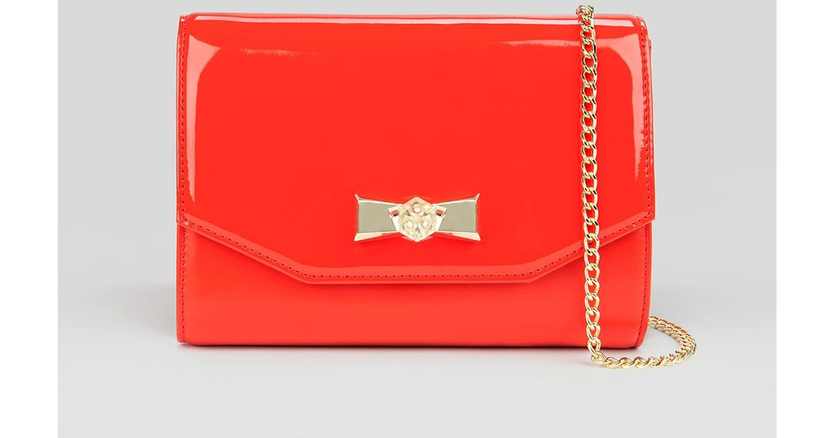 bd1298e44ae6ed Lyst - Ted Baker Crossbody - Evana Crystal Bow in Red