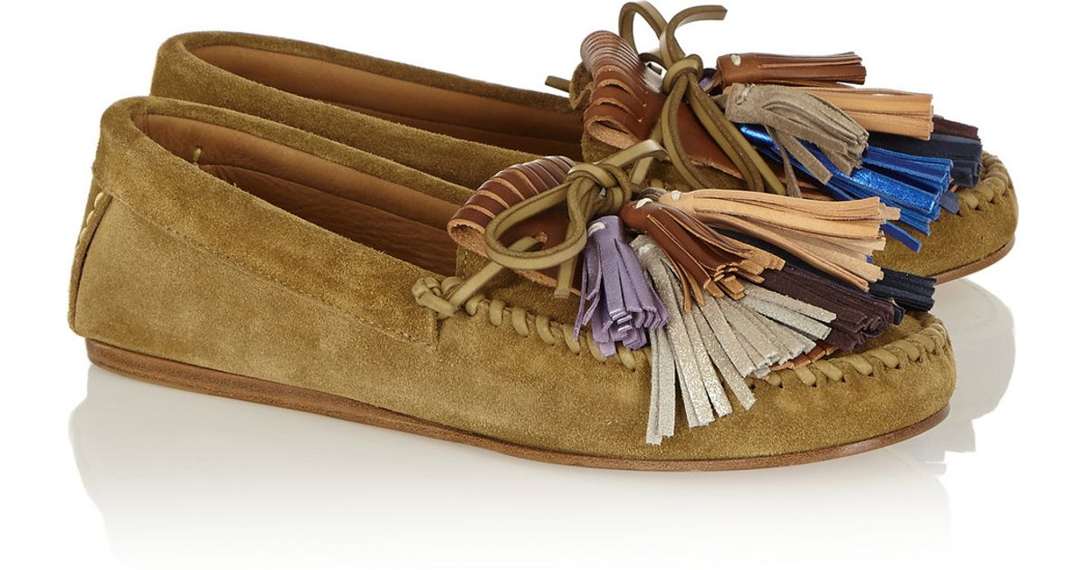 79b04d2b7d Isabel Marant Étoile Maple Tasseled Suede Moccasins in Brown - Lyst