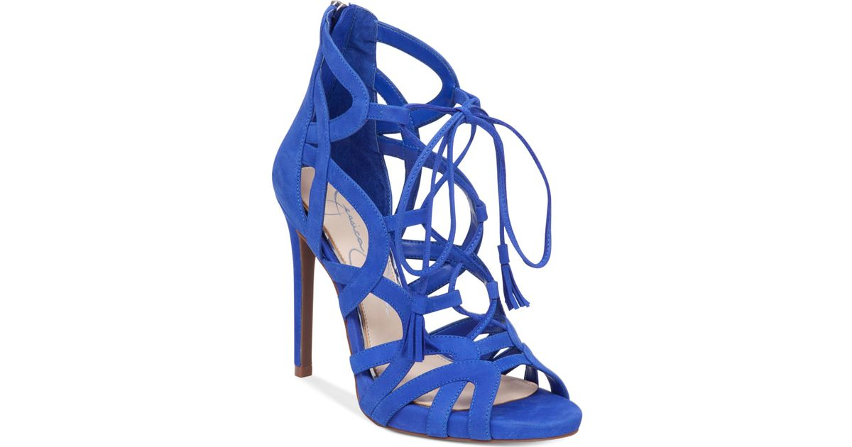 Blue Gladiator Heels