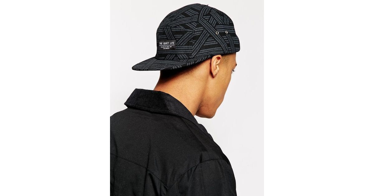 84855b4a62a Lyst - The Quiet Life Rope 5 Panel Cap in Black for Men