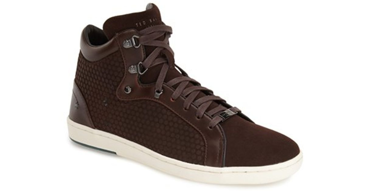 90e361e71 Lyst - Ted Baker Alcaeus Suede High-Top Sneakers in Black for Men