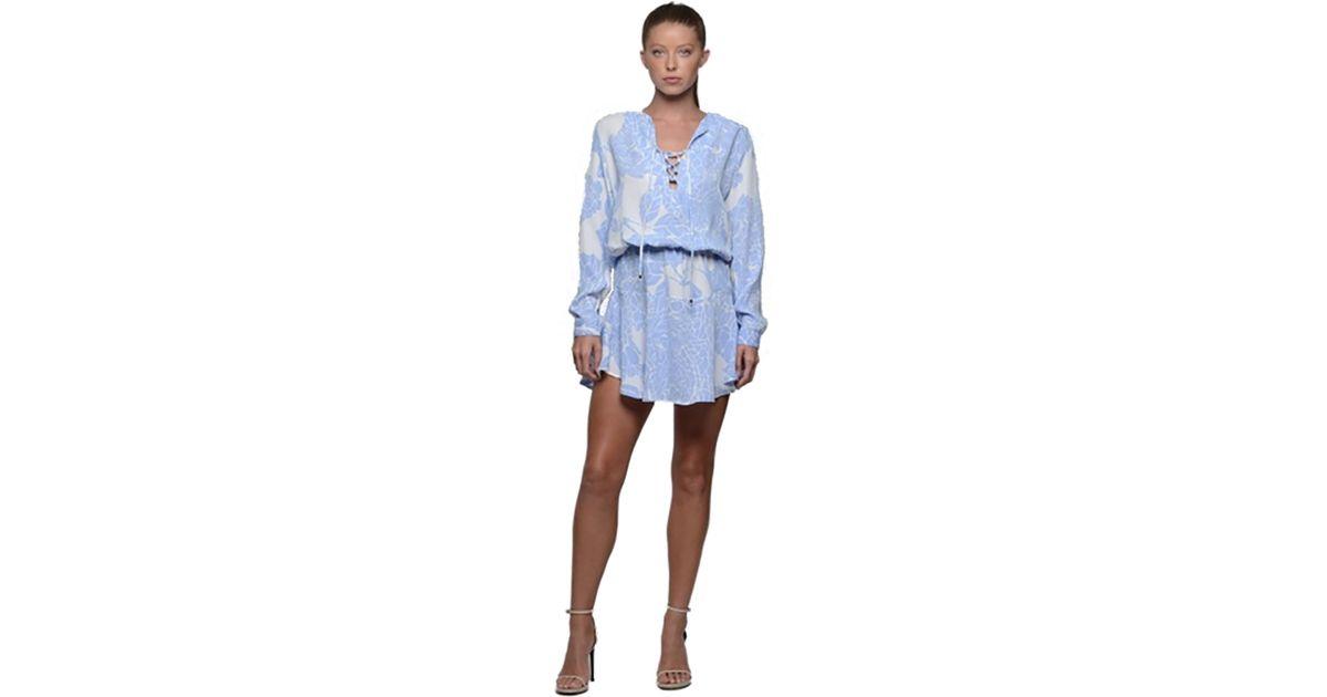 c4796ef81f969 Karina Grimaldi Carol Print Mini Dress In Periwinkle in Blue - Lyst