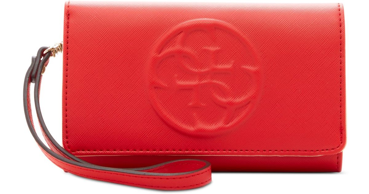 classic fit cheaper best cheap Guess Red Korry Phone Organizer Wallet