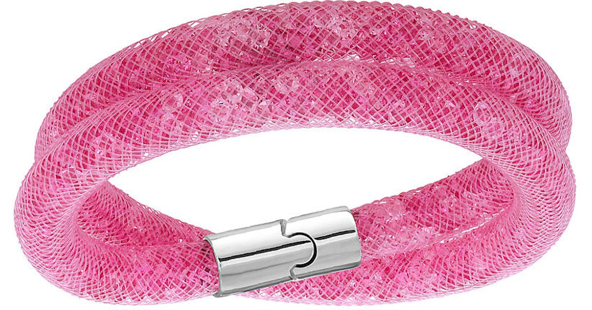 6cd06e5d5cfcf Swarovski Pink Stardust Double Wrap Bracelet