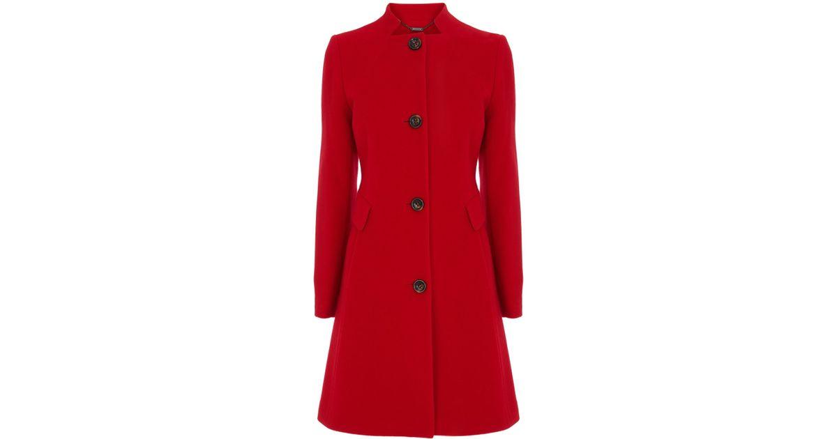Coast Bergen Wool Coat in Red | Lyst