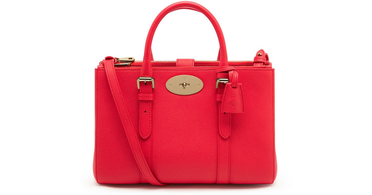 eaa9a7abef87 sweden lyst mulberry small bayswater double zip tote in red f3f0c 1a313
