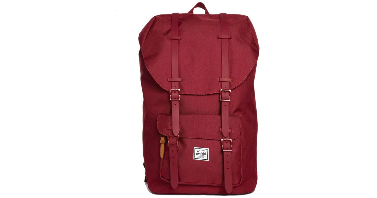 88f6cf4f31b Lyst - Herschel Supply Co. Little America Backpack Mid Volume in Red