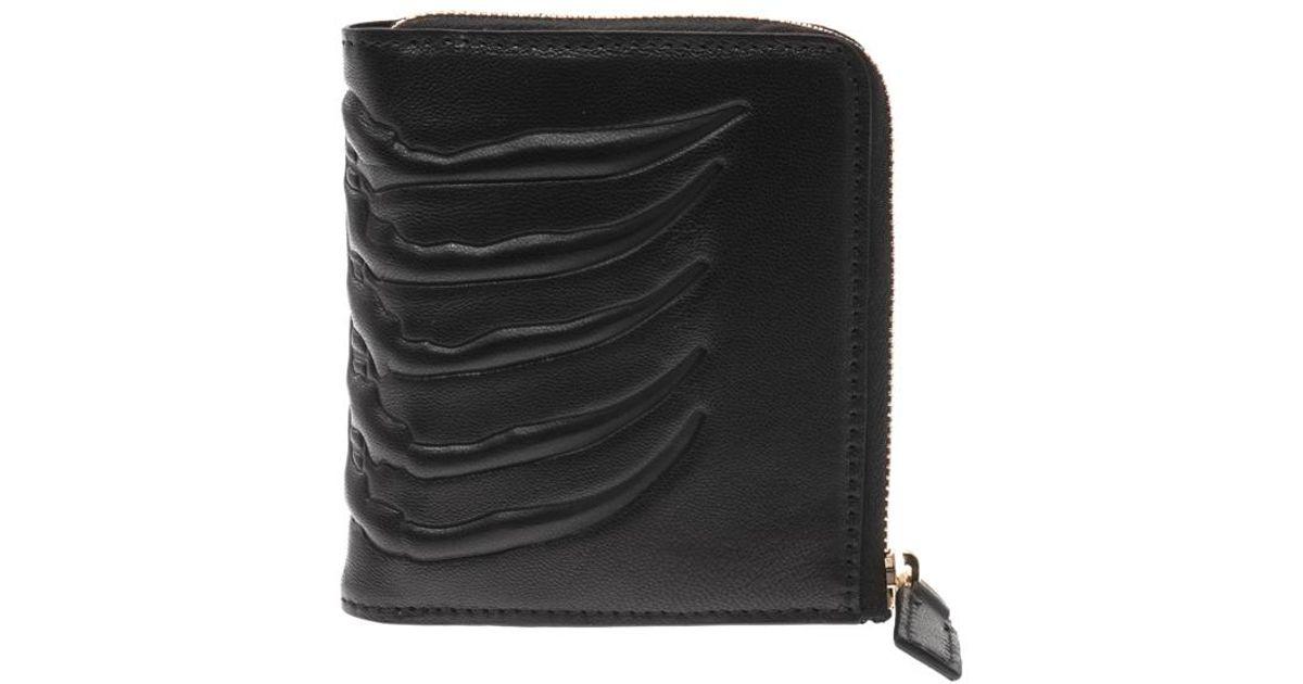 10ceb781396 Lyst - Alexander McQueen Ribcage Coin Wallet in Black for Men