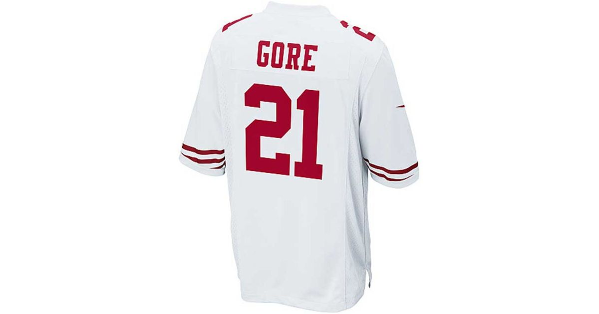 new concept 1ebba ab8fe Nike - White Men's Frank Gore San Francisco 49ers Game Jersey for Men - Lyst