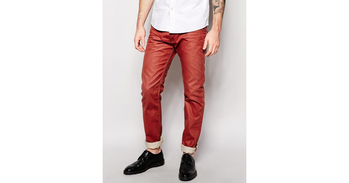 40c3e9a7 DIESEL Jeans Belther Slim Fit Color Mutation in Red for Men - Lyst