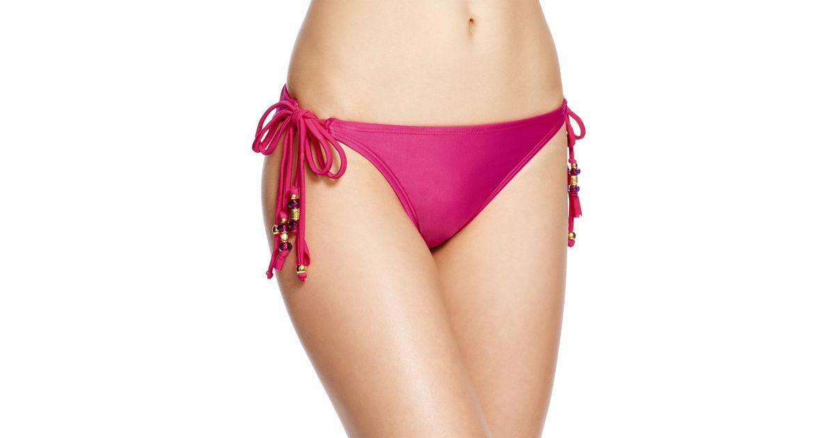 Pilyq Dahlia Double Tie Bikini Bottom In Pink Lyst