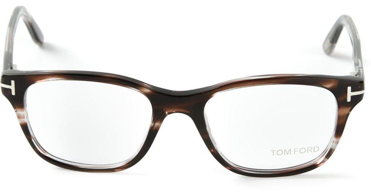 Lyst - Tom Ford Square Frame Glasses in Brown for Men