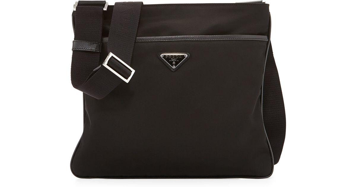 10a941f0a890 ... new zealand prada nylon crossbody bag in black lyst c92c8 204a5