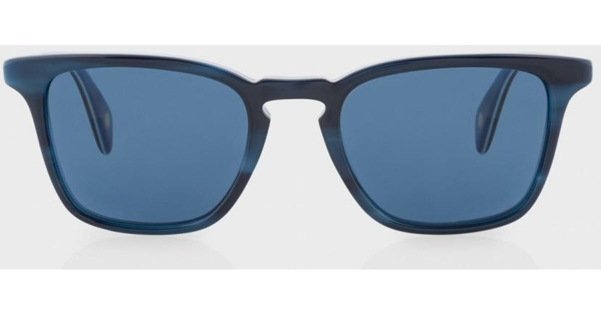 d2b6aaae811 Lyst - Paul Smith Navy Horn And Blue  shawbury  Sunglasses in Blue