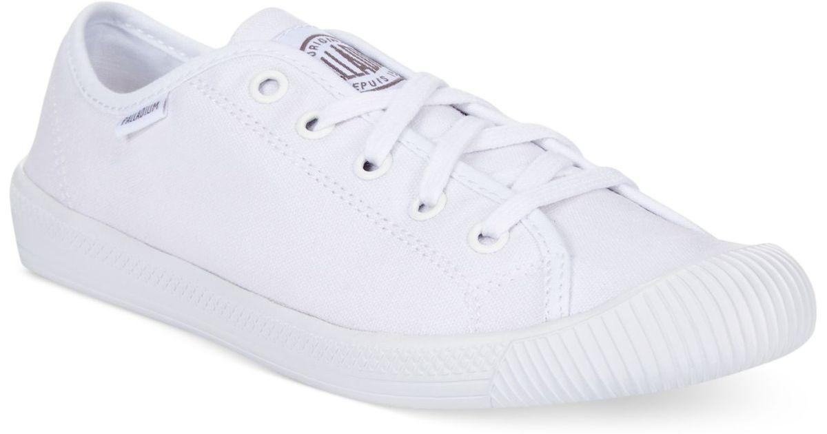 ny lista officiell butik olika färger Palladium White Women's Flex Lace Sneakers