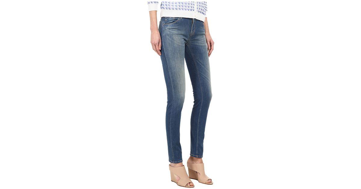 Lyst - Armani Jeans Vintage Wash Mid Rise Jean In Indigo in Blue b57d210ae4f