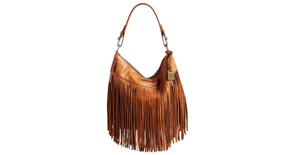 b47490993aa0 FRYE Heidi Fringe Hobo-SVL Shoulder Bag