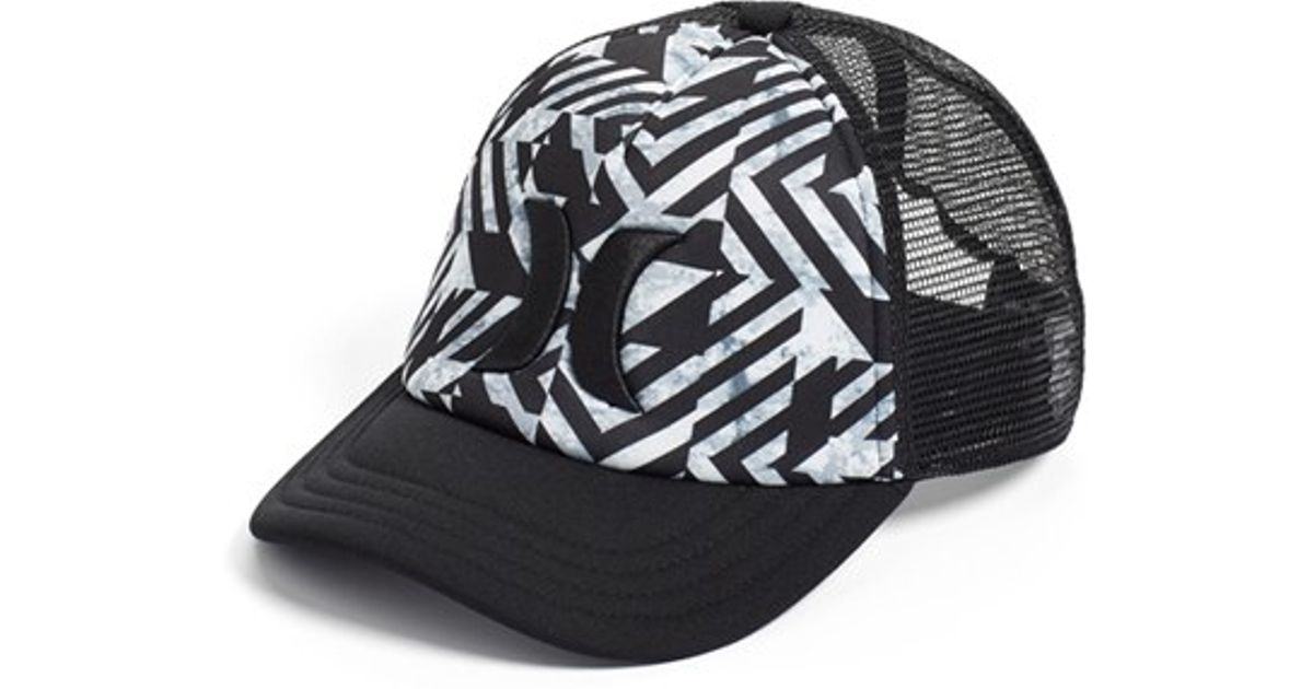 finest selection be9a9 4f2a9 ... new style lyst hurley one only trucker hat in black for men bc97b f3333