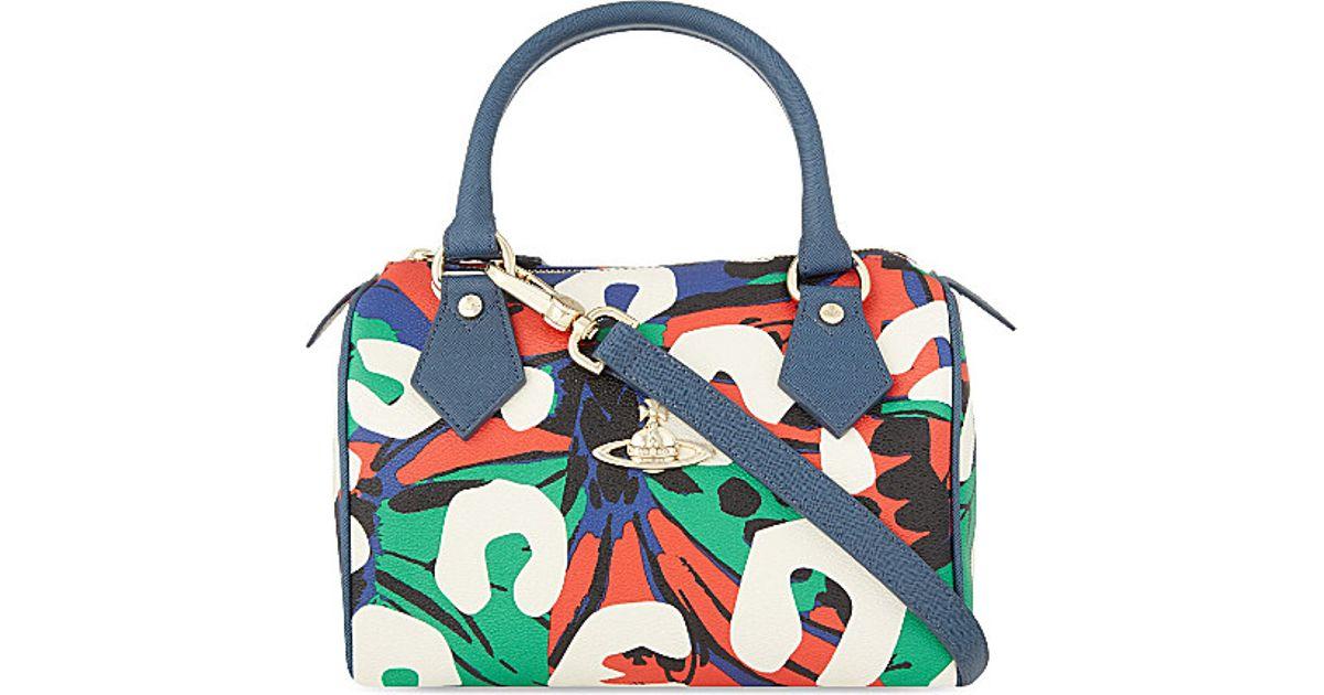 Vivienne Westwood Multicolor Graffiti Printed Bowling Bag For Women