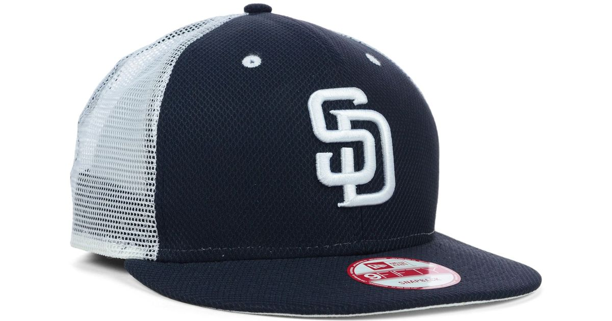 44d10c0d8ff90 KTZ San Diego Padres Mlb Diamond Mesh 9fifty Snapback Cap in Blue for Men -  Lyst