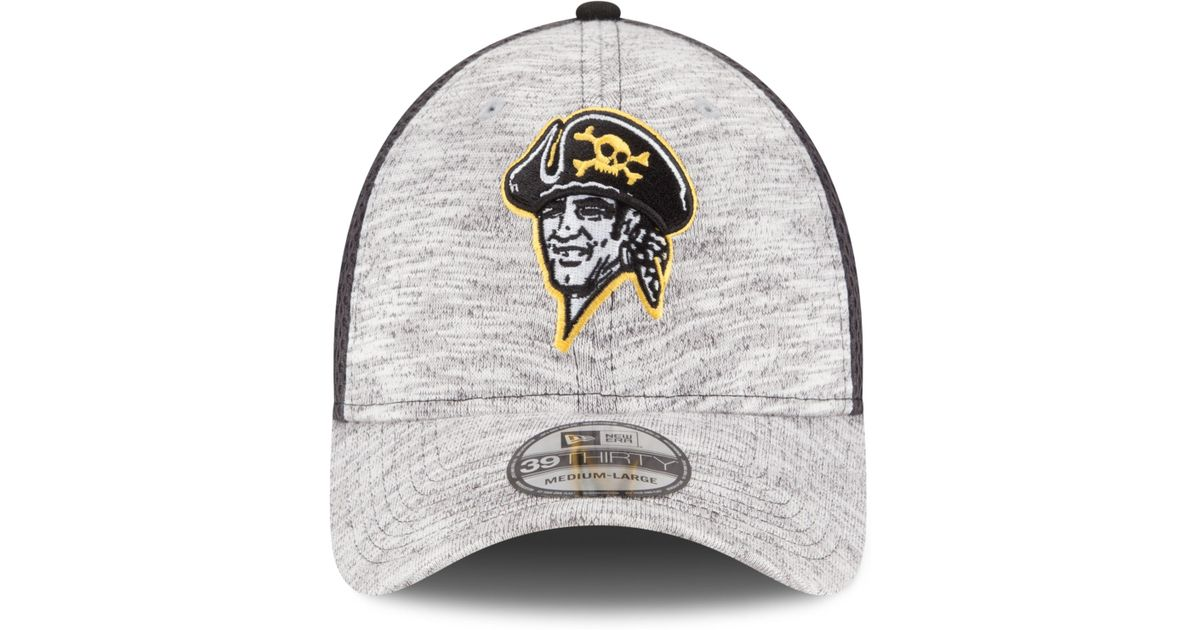 another chance half price various styles KTZ Synthetic Pittsburgh Pirates Clubhouse 39thirty Cap in Gray ...