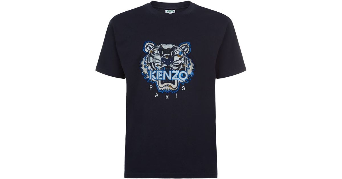 eabef5b94ec4 KENZO Embroidered Icon Tiger T-shirt in Blue for Men - Lyst
