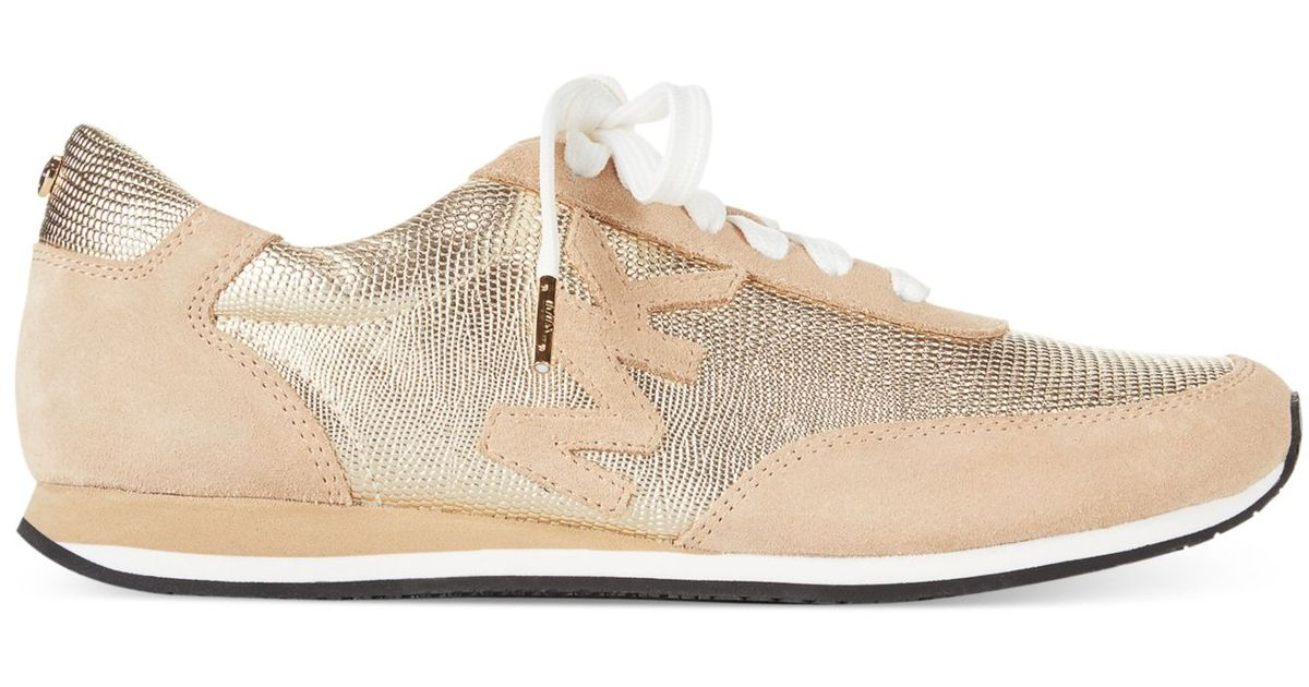 2023b25f Michael Kors Metallic Michael Stanton Trainer Sneakers
