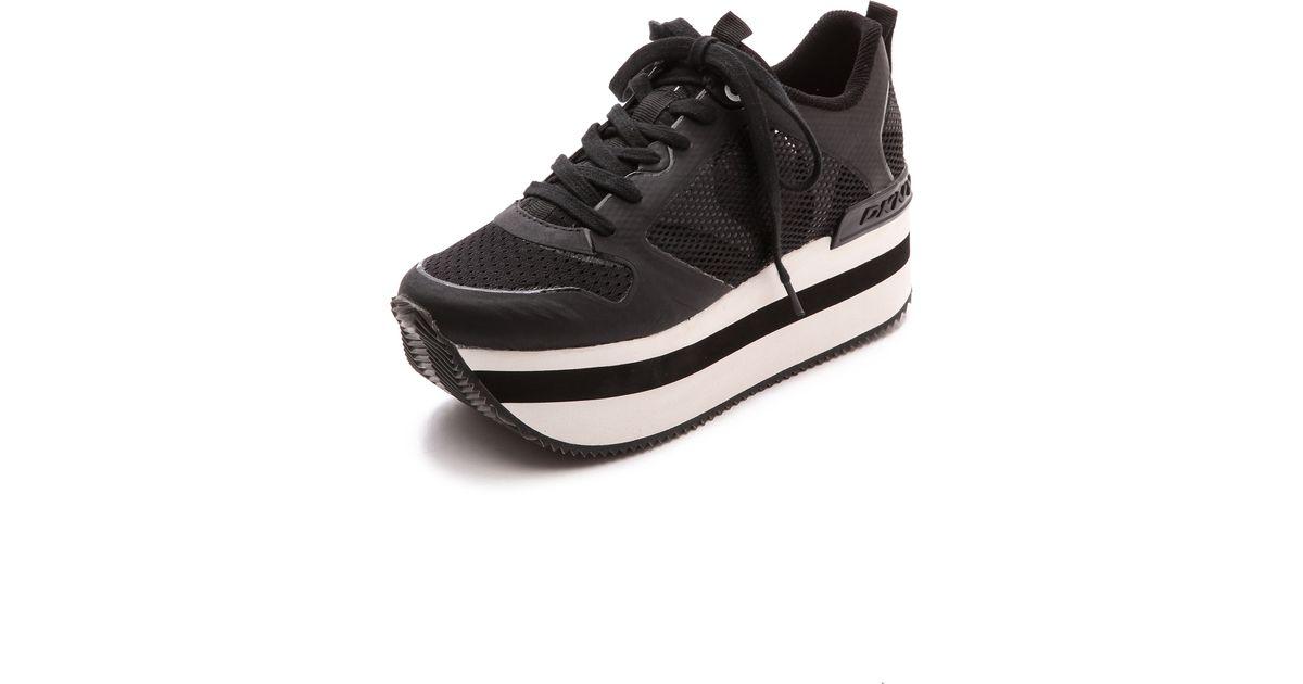 bc7be7358cb85 DKNY Jessica Runway Platform Sneakers - Black