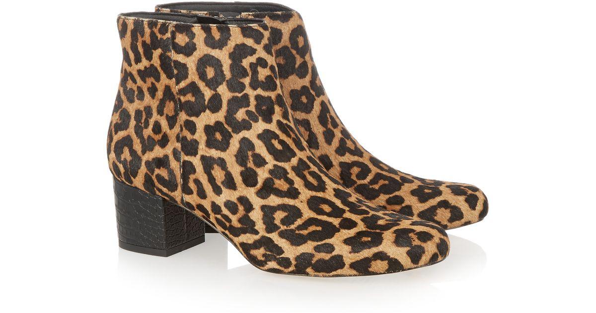 45d80de5e478a Sam Edelman Edith Leopard-print Calf Hair Ankle Boots - Lyst