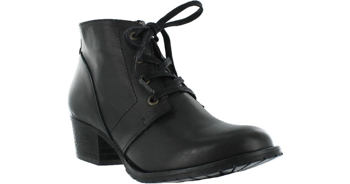 marta jonsson leather lace up ankle boots in black lyst