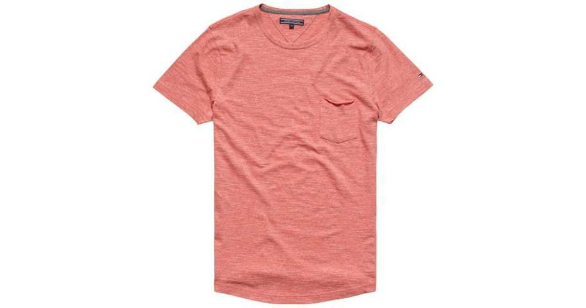 tommy hilfiger classic heathered t shirt in red for men lyst. Black Bedroom Furniture Sets. Home Design Ideas