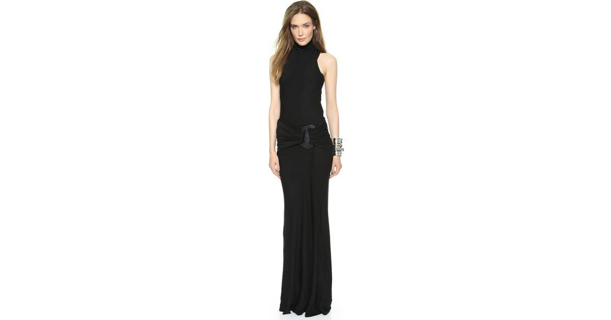 3a58485969449 Lyst - Donna Karan Sleeveless Turtleneck Dress Black in Black