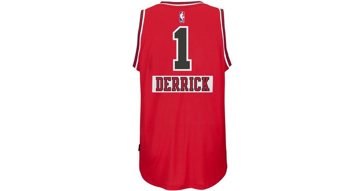 new product 4b531 c69e0 Adidas Red Derrick Rose Chicago Bulls Christmas Day Swingman Jersey