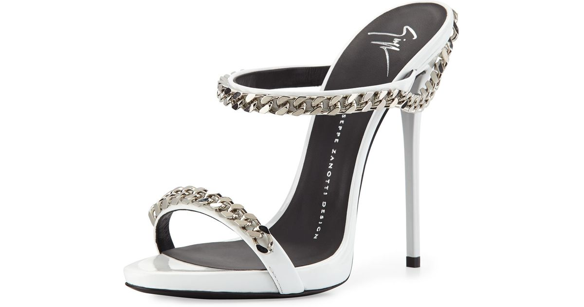 clearance wide range of professional Giuseppe Zanotti Leather Chain-Link Sandals CwJEdEb