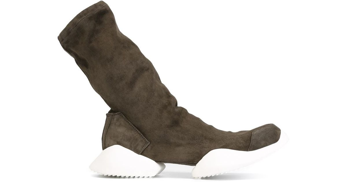 huge selection of cfdca 1dc0c Lyst - Rick Owens X Adidas  tech Runner  Boots in Gray for Men
