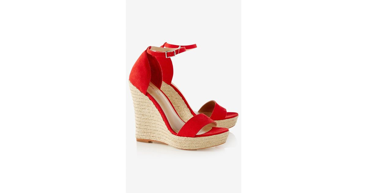 e0bbe89d20e Express Red Espadrille Wedge Sandal