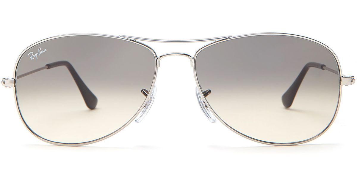 8d3f7263020aa Ray-Ban Ruthenium-Tone Rb3362 Cockpit Aviator Sunglasses in Metallic - Lyst