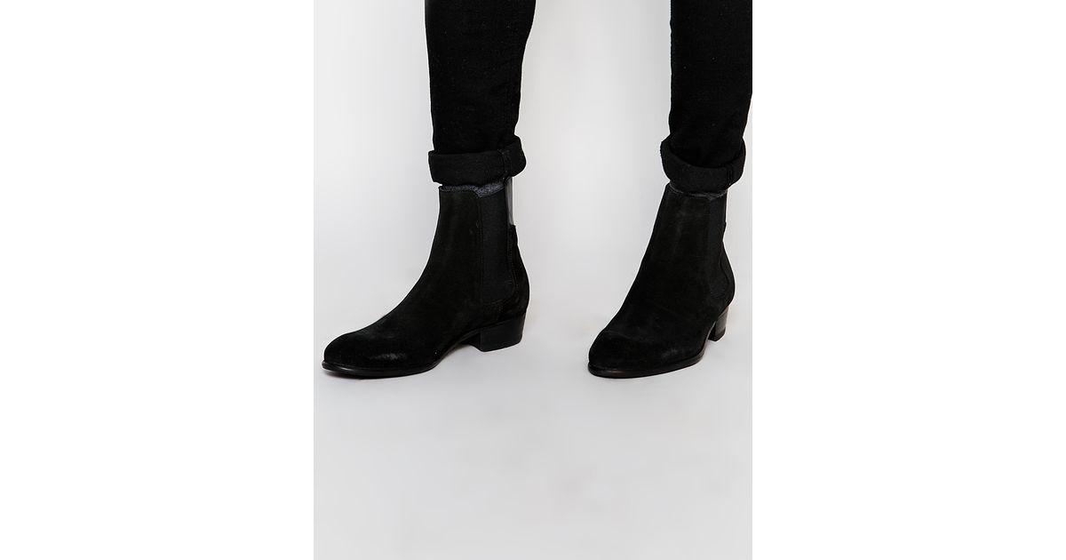 watts black chelsea boot