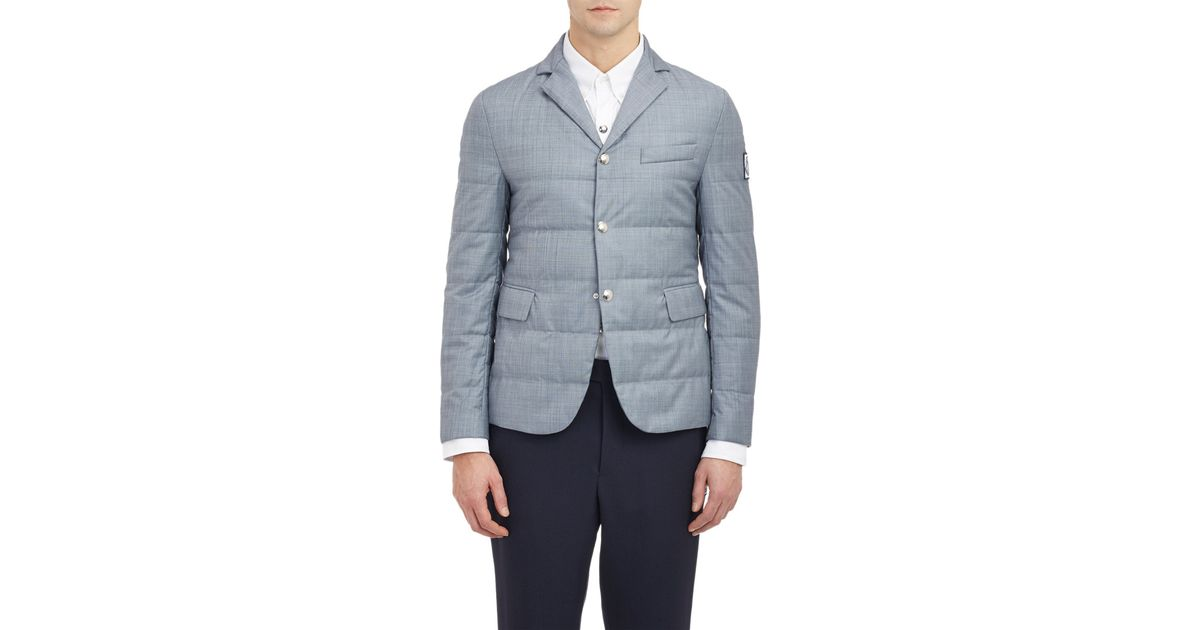 54e365630 Moncler Gamme Bleu Gray Quilted Twill Jacket for men