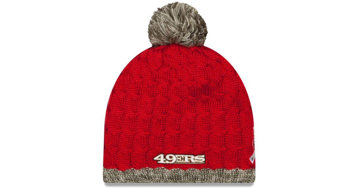b1da2c68f Lyst - KTZ Women s San Francisco 49ers Salute To Service Knit Hat in Red  for Men