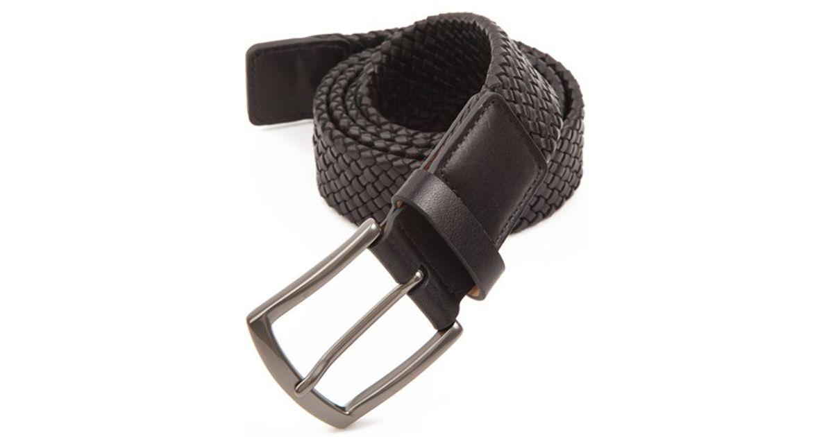 0ad1d1c65c112d Lyst - Trafalgar  ethan  Braided Leather Belt in Black for Men