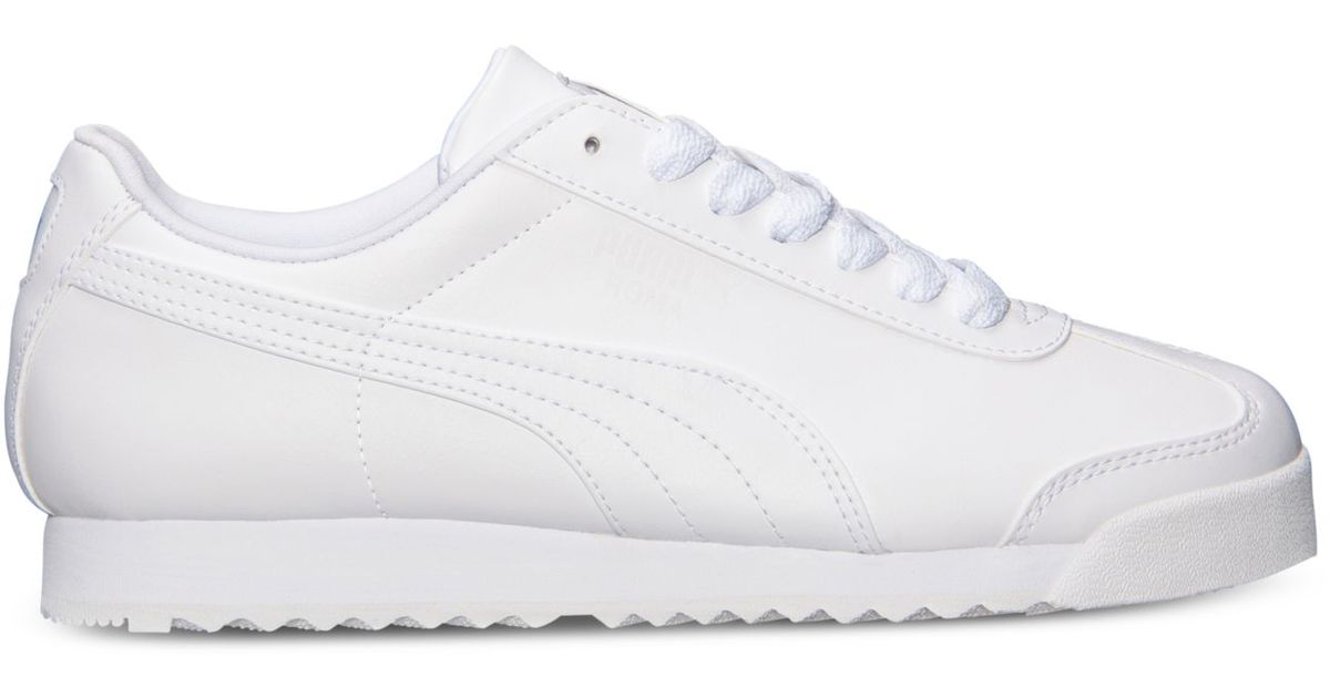 PUMA White Women's Roma Basic Casual Sneakers From Finish Line
