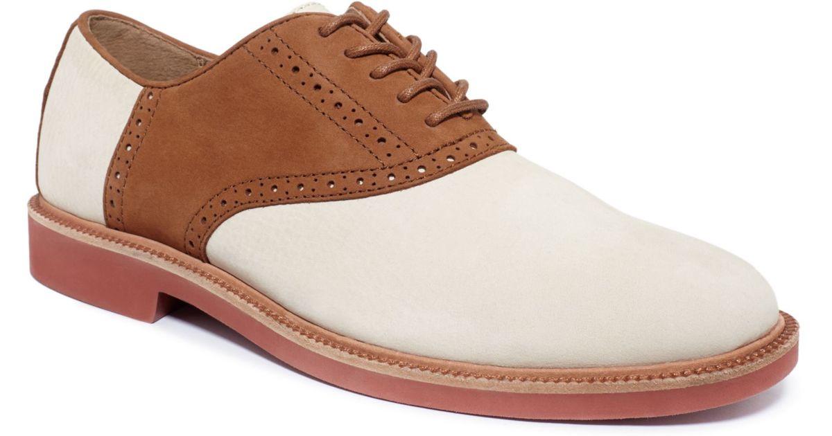 6687d80691 Ralph Lauren Brown Polo Torrington Saddle Dress Shoes for men