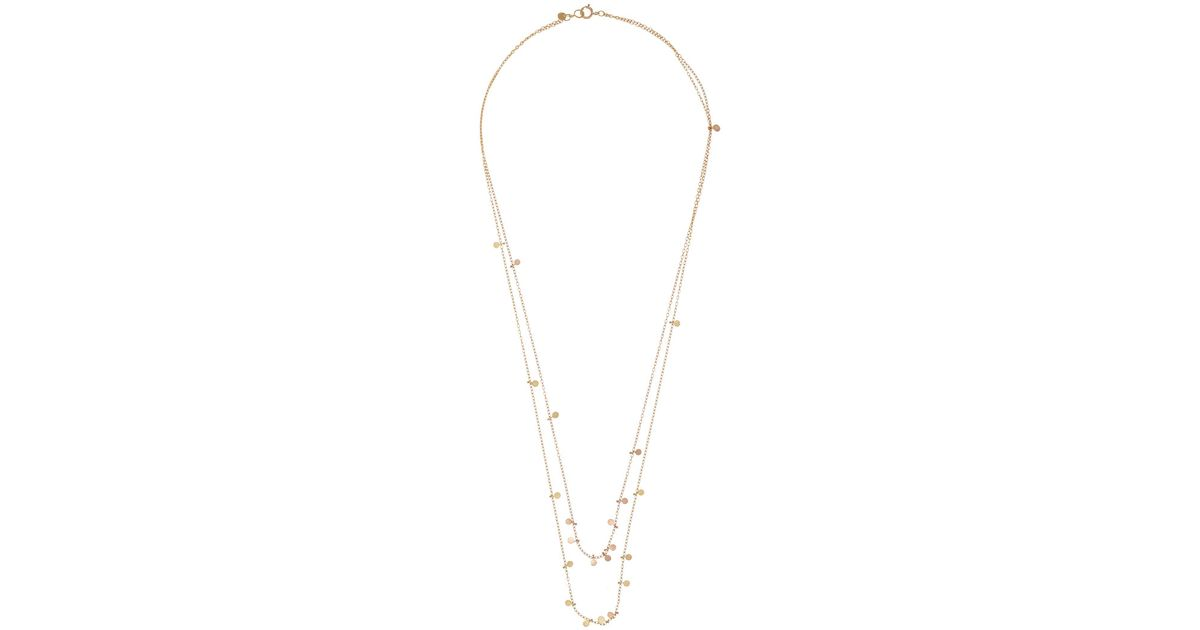 Beautiful Lyst - Sia Taylor Yellow and Rose Gold Double Chain Dot Necklace  FI67