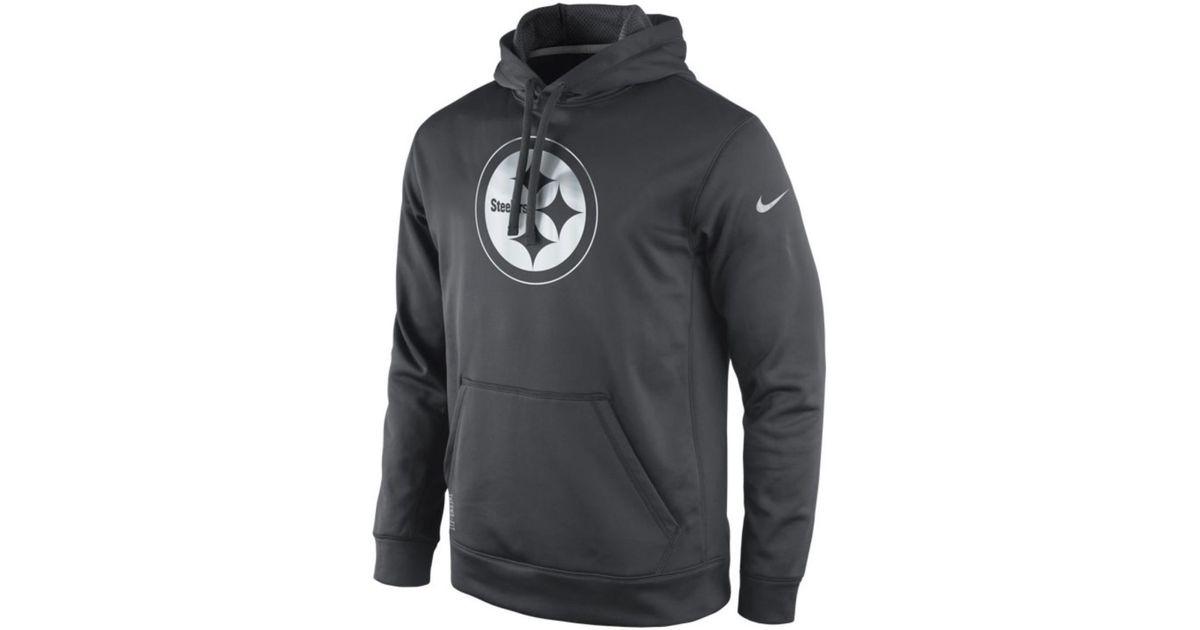 low priced f046f 8fec1 Nike Gray Pittsburgh Steelers Platinum Ko Hoodie for men