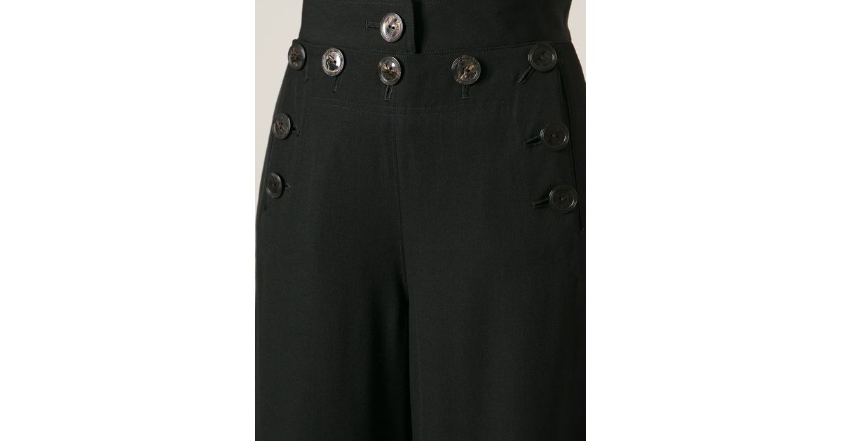 fc5cc25f4443 Lyst - Jean Paul Gaultier Sailor Trousers in Black