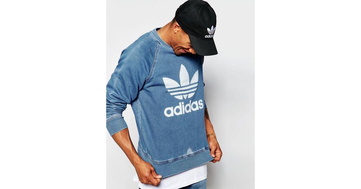 Adidas Denim Sweatshirt Men Blue For Ab8054 Originals SMpVUz