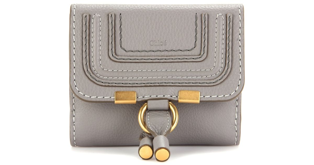 4fc03475 Chloé Gray Marcie Leather Wallet